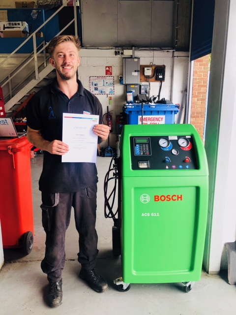 Congratulations to Lewis on Air Conditioning exam